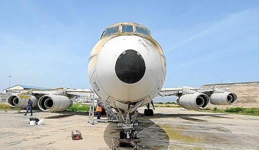 La aeronave se encuentra aparcada en una 'zona muerta' del aeropuerto de Palma.