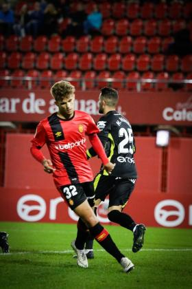 El juvenil Pablo Ramón durante el partido de Copa que disputó ante el Valladolid.