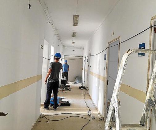 Inicio de las obras en la unidad de convalescencia del Hospital General.