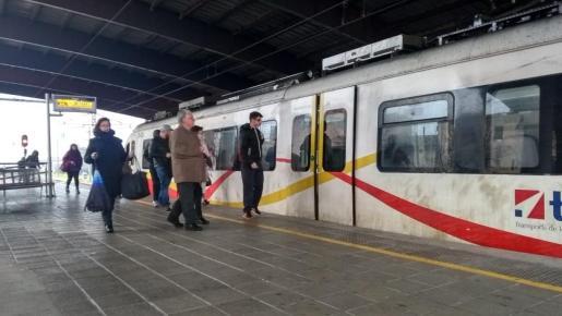 La estación de trenes de Inca la mañana de este viernes.