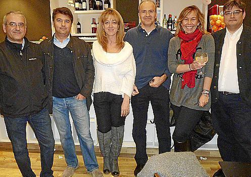 Juan Carlos Felíu, Mateo Vidal, María José Peró, Luis de la Serna, Alicia Cubes y Jorge Ramírez.
