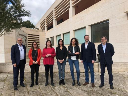 Candidatos socialistas a las elecciones de 2019 han presentado este sábado la Conferencia Política del PSIB-PSOE en la Fundación Pilar i Joan Miró.
