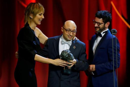 Jesús Vidal recoge su premio Goya en la gala celebrada este sábado en Sevilla.