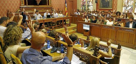 La propuesta para modificar el sistema de ayudas a los grupos del Consell partió de Podemos pero fue aprobada por unanimidad en el pleno de la Corporación.