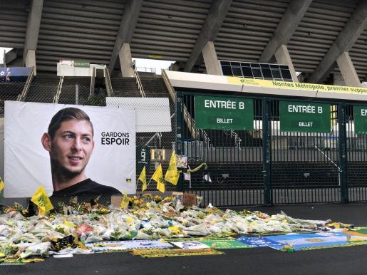 Imagen del acceso al estadio del Nantes, anterior club de Emiliano Sala.