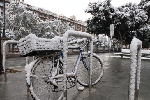 Imagen de la nevada en Palma en el año 2012.