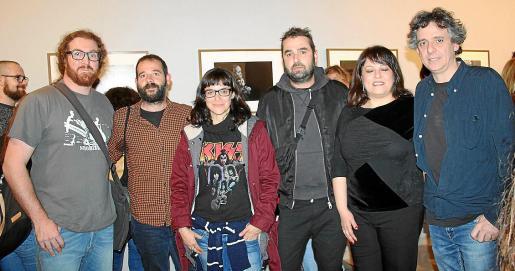 José Barceló, Alberto Vera, Teresa Ayuga, Miquel Àngel Cañellas, la directora de la productora audiovisual del CEF, Aline Tur, y Juanjo Alfonso.