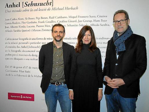 Llorenç Carrió, Pilar Rubí y Michael Horbach.
