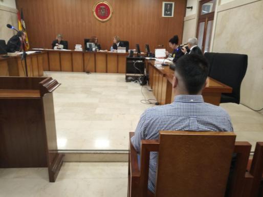 El acusado, este martes, en la Audiencia Provincial de Palma.