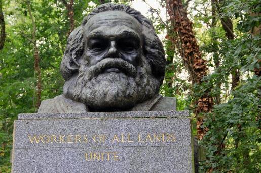 Busto de Karl Marx en Londres.
