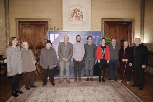 Imagen de la recepción del Consell a Carles Bover, ganador de un Goya.