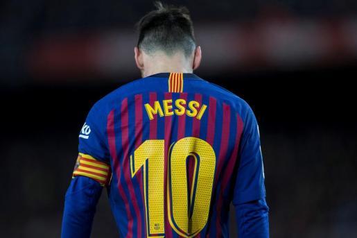 El delantero argentino del FC Barcelona, Leo Messi, durante el encuentro del pasado fin de semana contra el Valencia en el Camp Nou.