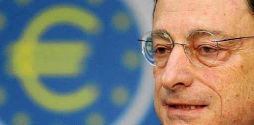 El presidente del BCE, Mario Draghi, comparece en una rueda de prensa tras la reunión del consejo de gobierno del organismo financiero.