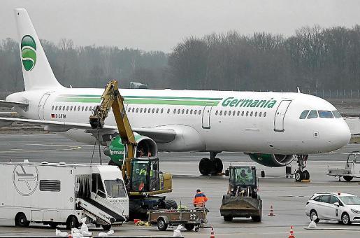 Germania volaba a Mallorca desde Berlín, Dresden, Bremen y Nuremberg.