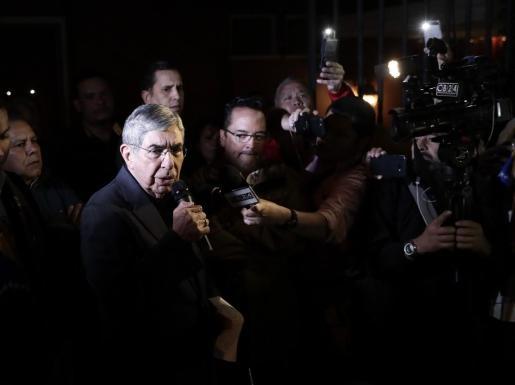 El expresidente de Costa Rica Óscar Arias durante una rueda de prensa.