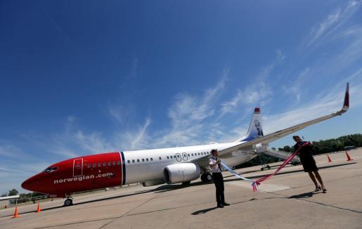 Imagen de un avión de la compañía .Norwegian
