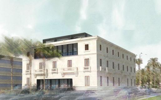 Recreación virtual del proyecto de remodelación de la antigua sede de la Autoridad Portuaria.