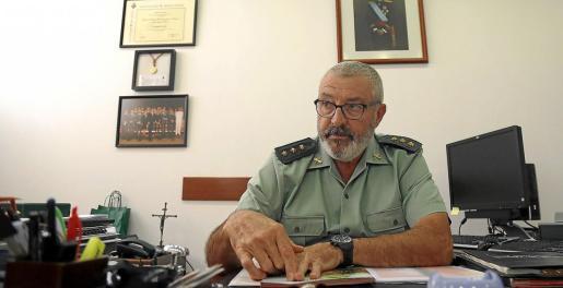 El coronel Jaume Barceló, durante una entrevista con este diario el año pasado, en la Comandancia.