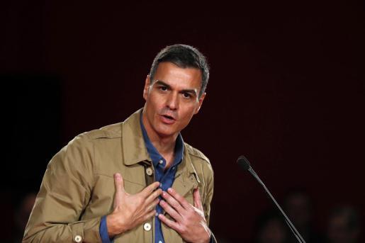 El presidente del Gobierno y secretario general del PSOE, Pedro Sánchez, durante un reciente acto público.