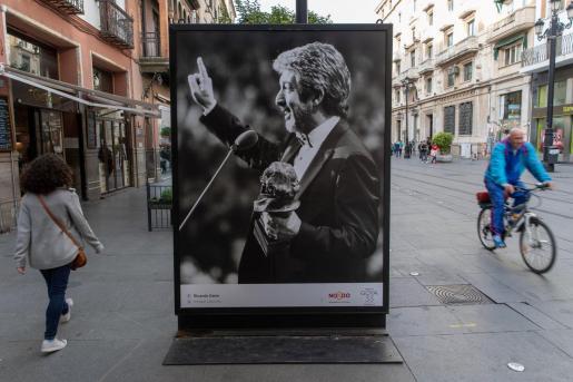 El actor Ricardo Darín aparece en la fotografía de uno de los expositores en Sevilla, que forma parte de la exposición fotográfica 'La emoción de los Goya' y que sirvió de previa a la gala de Los Goya.