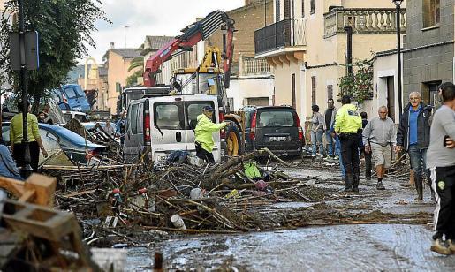 Las inundaciones provocaron graves daños en el municipio.