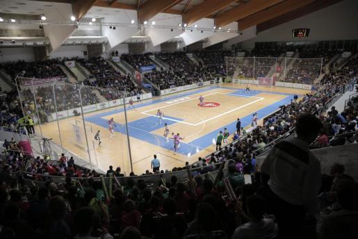 Panorámica del Palau d'Esports de Son Moix durante el partido entre el Palma Futsal y ElPozo Murcia.