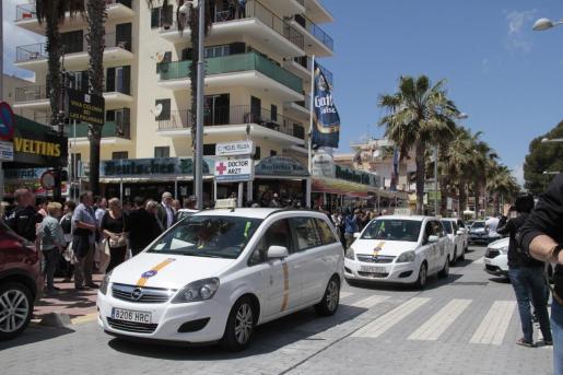Imagen de archivo de un taxi en la Playa de Palma.
