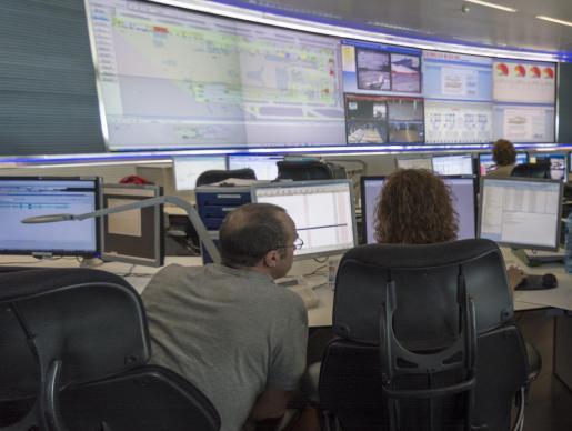 El fuego no afectó al funcionamiento del Centro de Control Aéreo de Palma.