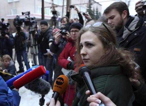 La integrante del grupo de punk rock Pussy Riot Maria Aliójina.