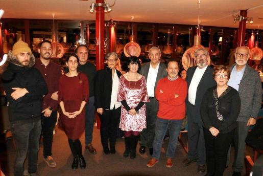 Representantes de ARCA durante su cena anual en la que han concedido los Premis Conservació i Destrucció del Patrimoni.