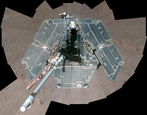 Imagen del robot Opportunity.