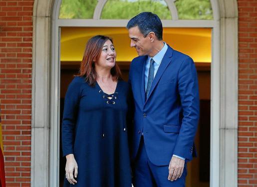 La foto de Francina Armengol con Pedro Sánchez en La Moncloa se tomó hace tres meses.