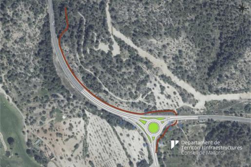 Proyecto de la nueva la rotonda de Camp de Mar en la carretera de Andratx.