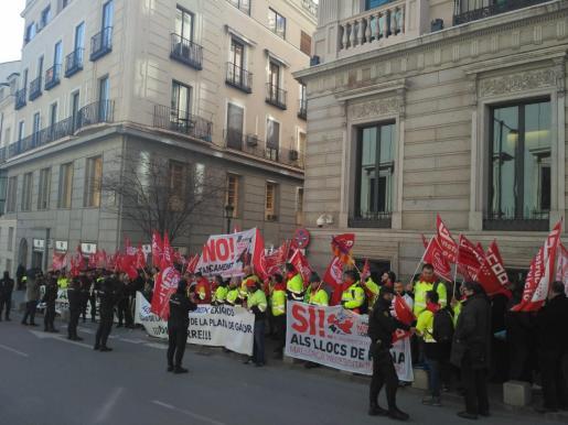 Protesta de los trabajadores en Madrid el pasado día 11.