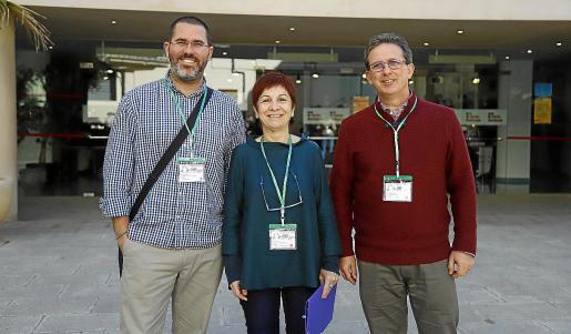 Andreu Grimalt, Francesca Salvà y Andreu Cloquell, organizadores de la jornada.