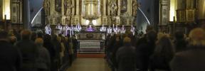 El funeral de Aina Moll reúne autoridades y familia en la iglesia Sant Francesc de Palma