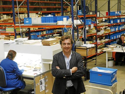 Jesús Vidal, director general de Vidal & Vidal en la fábrica de es Castell, en Menorca.
