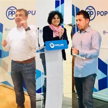 Los candidatos del PP Mateu Català, Xesca Ramis y Toni Aguiló.