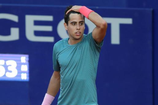 El mallorquín Jaume Munar, durante un partido frente al argentino Guido Pella durante el ATP 250 de Buenos Aires.