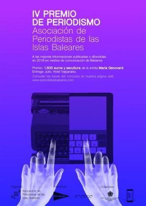 Cartel del IV Premio de Periodismo APIB.