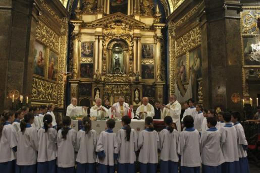 Imagen de archivo de la celebración del centenario de la consagración de la basílica del Santuario de Lluc.