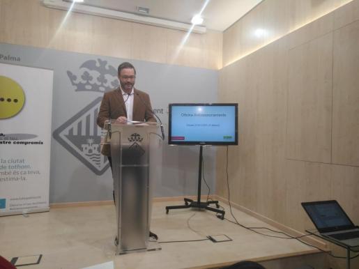 El concejal de Urbanismo, José Hila, ha hecho este martes un balance del funcionamiento de esta oficina.