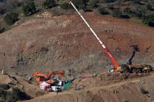 Los mineros durante el rescate de Julen en Totalán (Málaga)