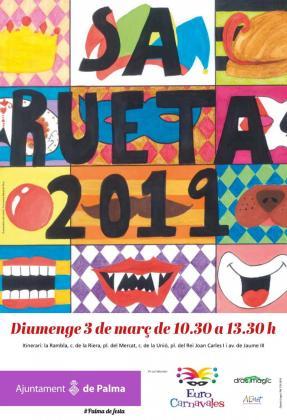 Los más pequeños de la casa viven las fiestas de carnaval en Palma con sa Rueta.