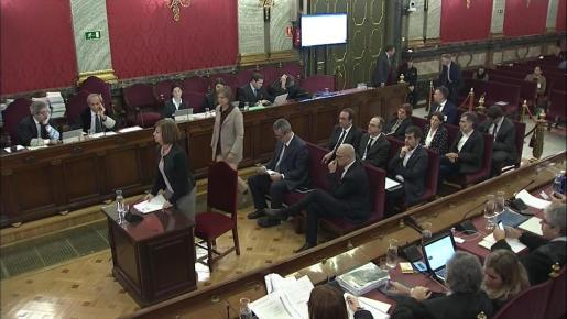 Captura de la señal institucional del Tribunal Supremo de la exconsejera de Gobernación Meritxell Borràs en el juicio del procés.