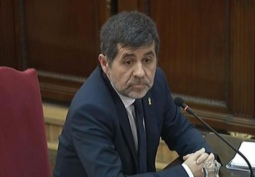 Jordi Sánchez, durante su declaración.