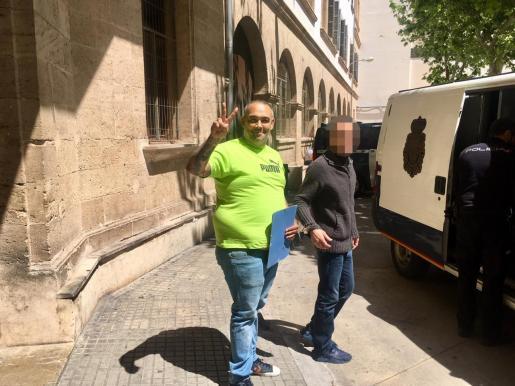 'El Ico', en una de sus múltiples visitas a los juzgados de Vía Alemania de Palma.