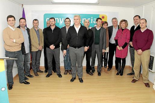 La actual dirección de Convergència, el día que inauguraron su nueva sede.