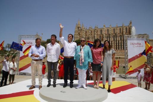 Joan Mesquida ha tenido un papel destacado junto a Albert Riera y Manuel Valls en un acto celebrado en Palma.