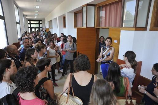 Imagen de una prueba de oposiciones a docentes celebrada en junio de 2018